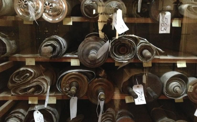 Torah scrolls at Westminster Synagogue